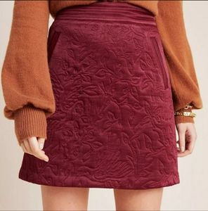 Anthropologie Maeve Beatrice Quilted Mini Skirt